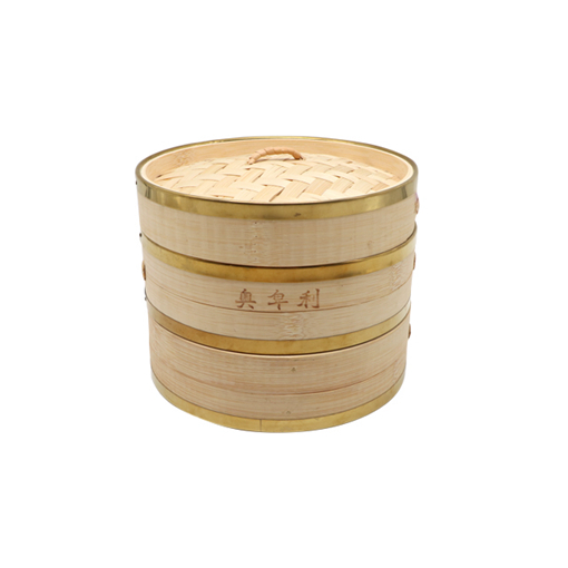 Bamboo steamer with electronic-copper ring