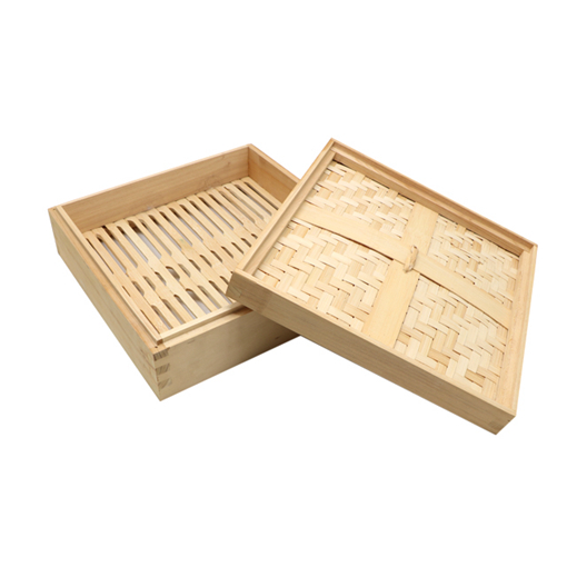 Big square bamboo steamer